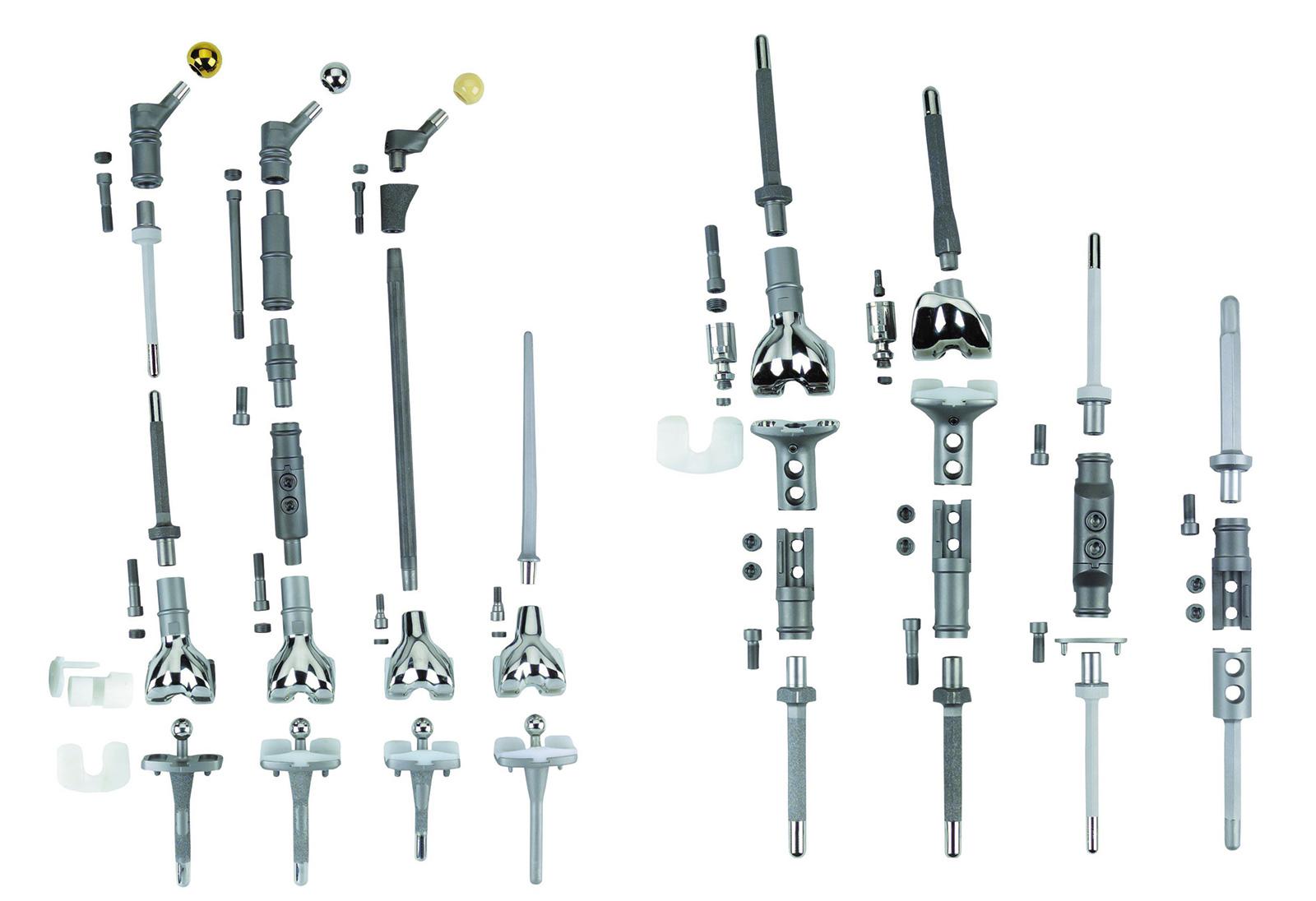 Abb. 8-7: MUTARS-Tumorprothese der Firma Implantcast (Buxtehude)